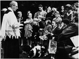 Rev Curwen at his 'pets' service